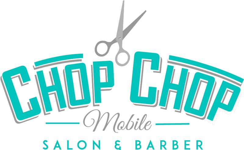 chop chop teal white logo
