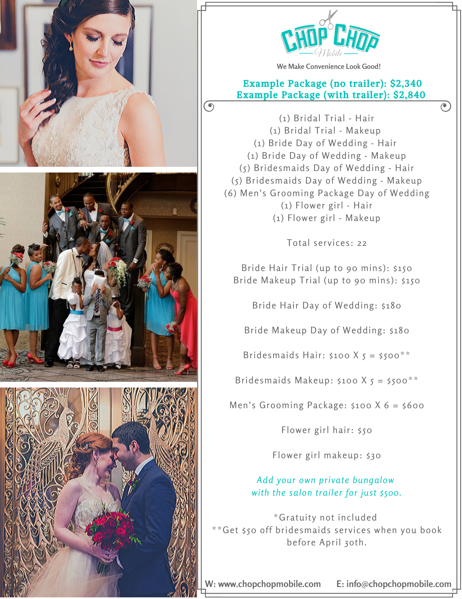 Wedding package example